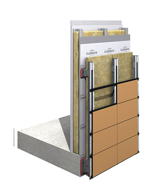 CMS03 – Structural Bonding Cladding Support System with Trims