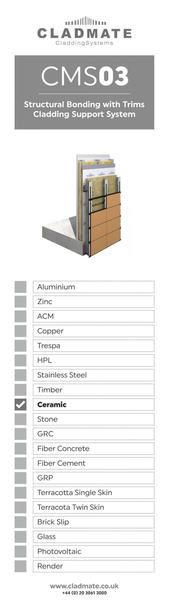 structural bonding with trims cladding system support