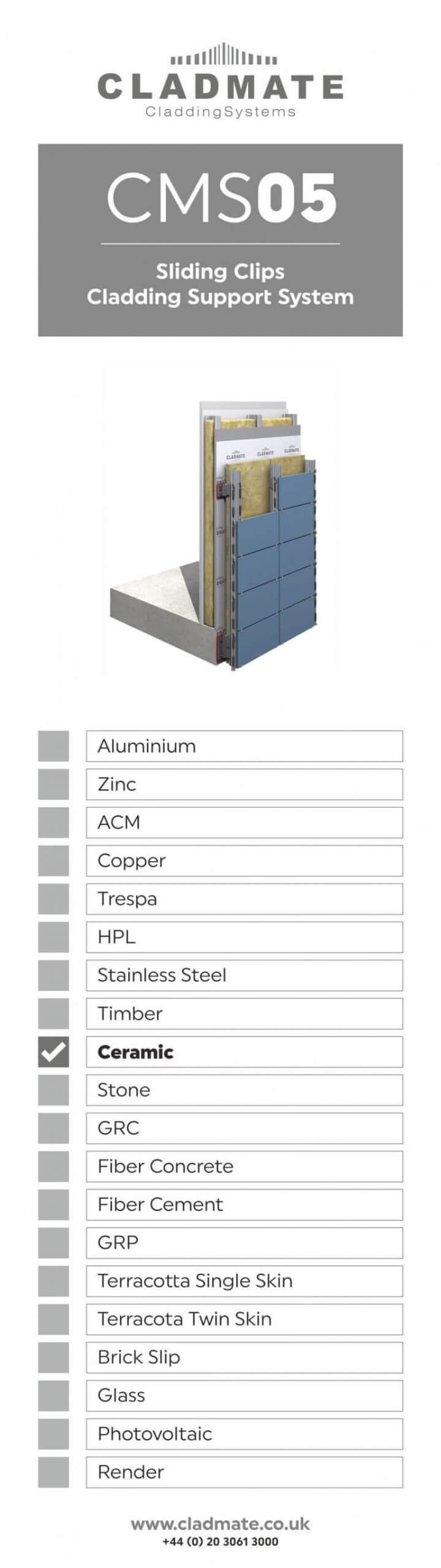 Sliding Clips Cladding Panels Support