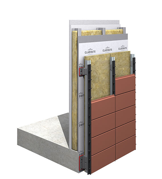 CMS20 - Single Skin Terracotta Cladding Support System
