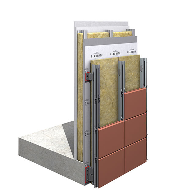 CMS21 - Double Skin Terracotta Cladding Support System