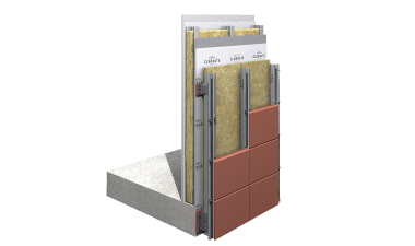 CMS21-Double Skin Terracota Cladding Support System