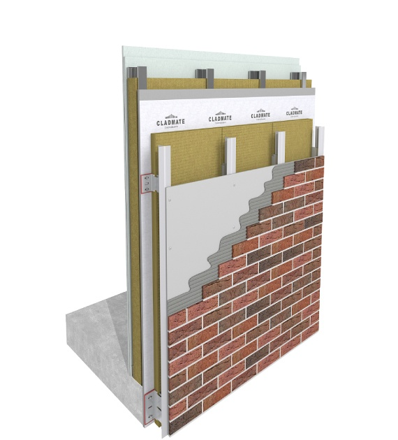 CMS21 - Double Skin Terracotta Cladding System Support